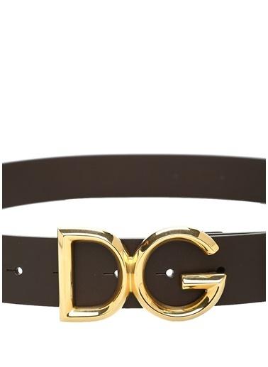 Dolce&Gabbana Dolce&Gabbana  Logo Tokalı Erkek Deri Kemer 101478840 Kahve